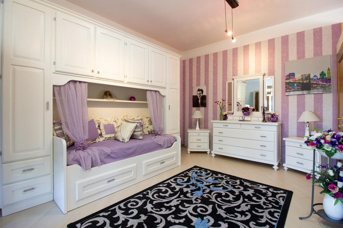 Camera in castagno bianco completa
