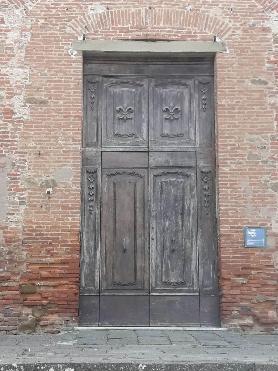 Portone della Collegiata prima del restauro